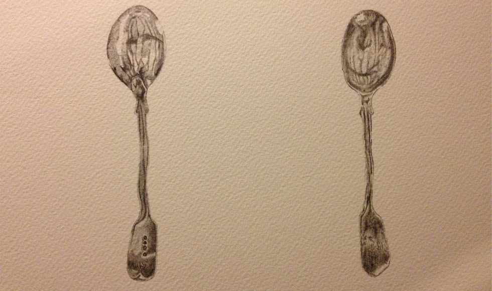 Bendy Spoons Pencil Drawing