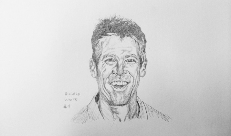 A drawing of Richard White number nine