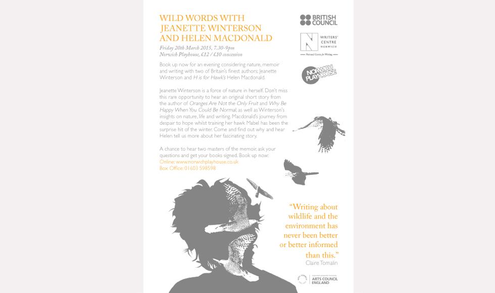 Jeanette Winterson / Helen Macdonald Flyer